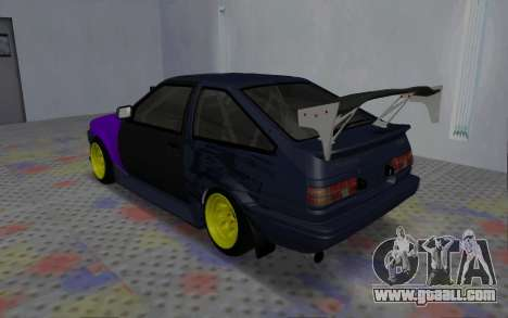 Toyota AE86 Street Drift for GTA San Andreas right view