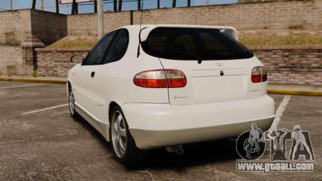 Daewoo Lanos GTI 1999 Concept for GTA 4 back left view