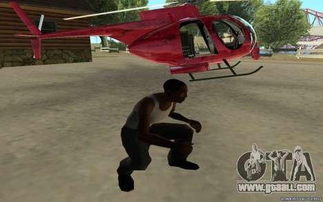 Buzzard Attack Chopper for GTA San Andreas back left view