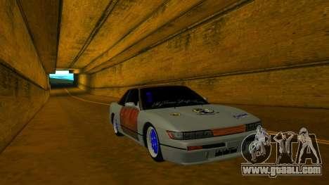 Nissan Silvia S13 MGDT for GTA San Andreas back view