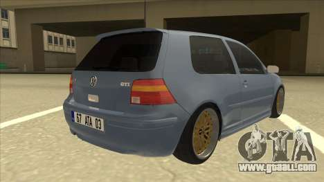 Volkswagen Golf MK4 Gti Eurolook for GTA San Andreas right view