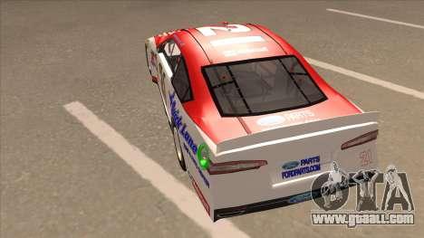 Ford Fusion NASCAR No. 21 Motorcraft Quick Lane for GTA San Andreas back view