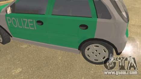 Opel Corsa 1.2 200516V Polizei for GTA San Andreas back left view
