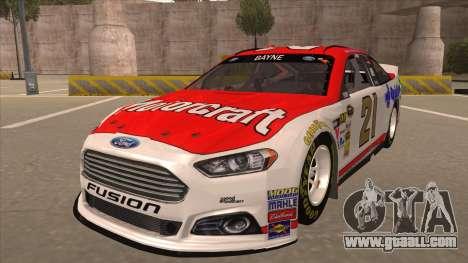 Ford Fusion NASCAR No. 21 Motorcraft Quick Lane for GTA San Andreas