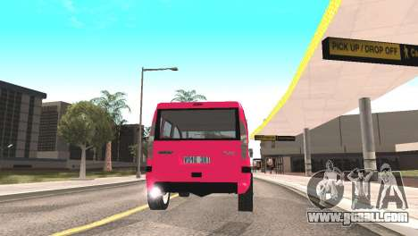 Fiat Doblo for GTA San Andreas back view