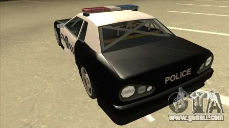 Elegy Police for GTA San Andreas back view