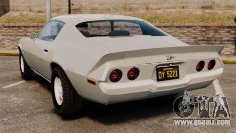 Chevrolet Camaro Z28 1970 for GTA 4 back left view