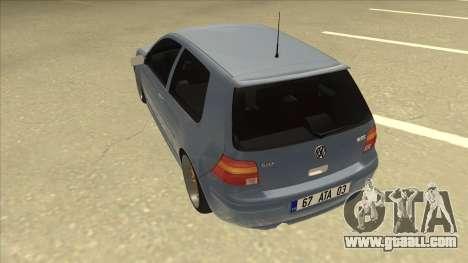 Volkswagen Golf MK4 Gti Eurolook for GTA San Andreas back view