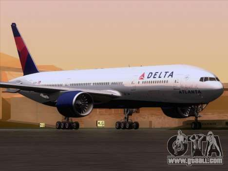 Boeing 777-200ER Delta Air Lines for GTA San Andreas left view