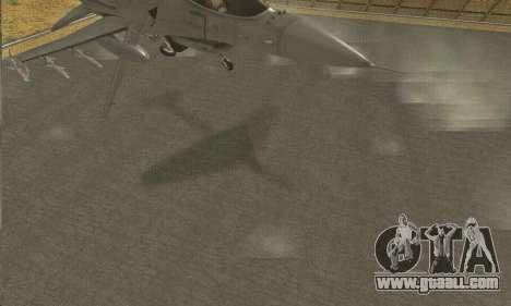 Hydra GTA V for GTA San Andreas back view