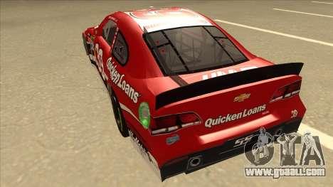 Chevrolet SS NASCAR No. 39 Quicken Loans for GTA San Andreas back view