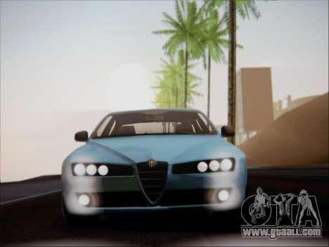 Alfa Romeo 159 Sedan for GTA San Andreas inner view