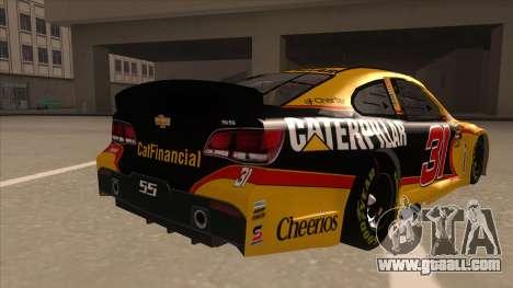 Chevrolet SS NASCAR No. 31 Caterpillar for GTA San Andreas right view