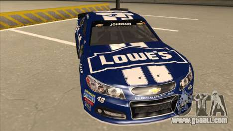 Chevrolet SS NASCAR No. 48 Lowes blue for GTA San Andreas left view