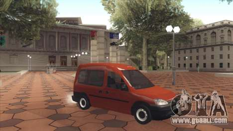 Opel Combo for GTA San Andreas left view