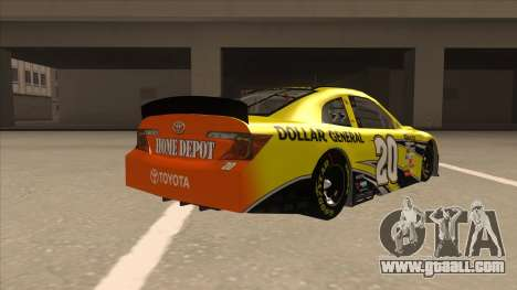 Toyota Camry NASCAR No. 20 Dollar General for GTA San Andreas right view