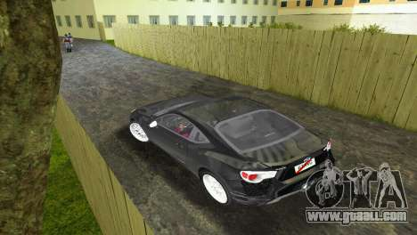 Subaru BRZ Type 2 for GTA Vice City right view