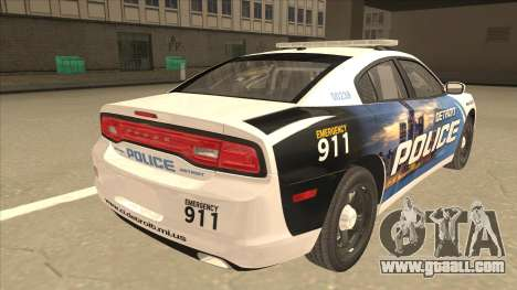 Dodge Charger Detroit Police 2013 for GTA San Andreas right view
