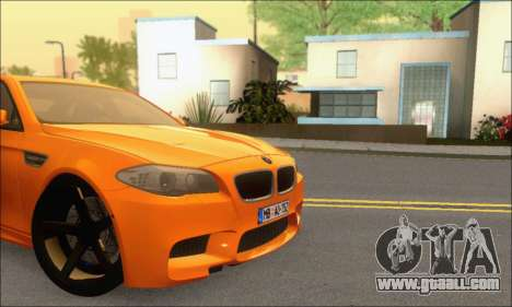 BMW M5 Vossen for GTA San Andreas inner view