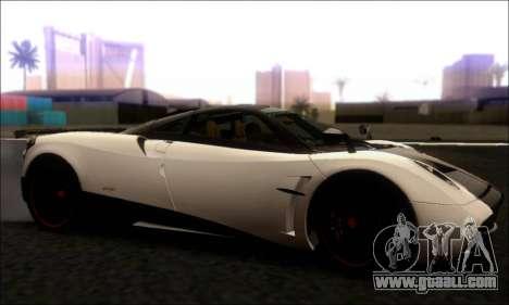 Pagani Huayra Cinque for GTA San Andreas left view