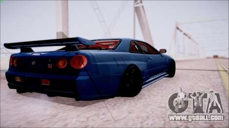 Nissan Skyline GT-R‎ R34 for GTA San Andreas back left view