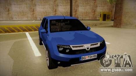 Dacia Duster SUV 4x4 for GTA San Andreas left view
