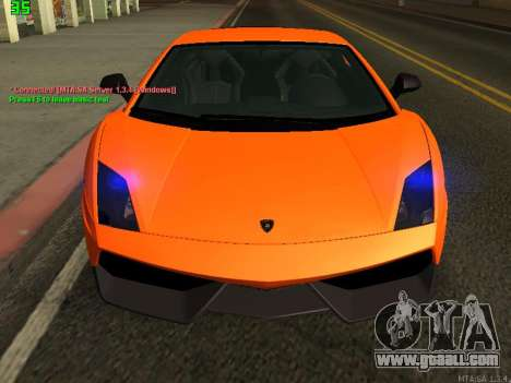 Lamborghini Gallardo LP560-4 SL UGR Altecho for GTA San Andreas left view