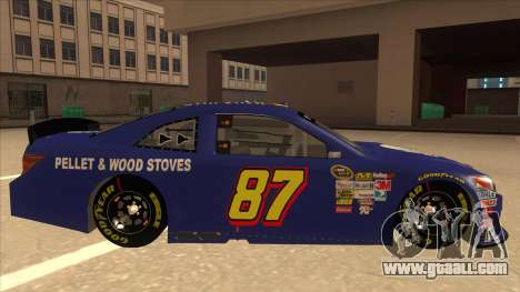 Toyota Camry NASCAR No. 87 AM FM Energy for GTA San Andreas back left view