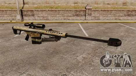 The Barrett M82 sniper rifle v14 for GTA 4