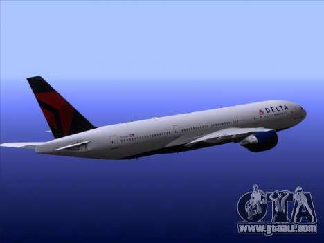 Boeing 777-200ER Delta Air Lines for GTA San Andreas engine