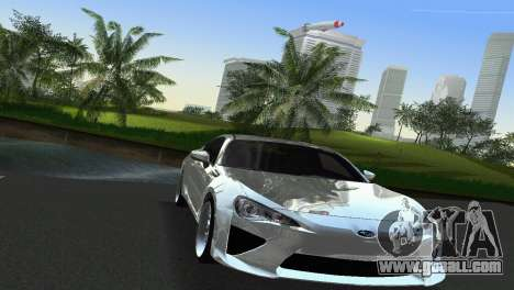 Subaru BRZ Type 2 for GTA Vice City inner view