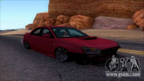 Subaru Impreza WRX for GTA San Andreas right view