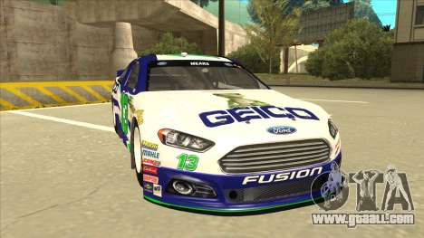 Ford Fusion NASCAR No. 13 GEICO for GTA San Andreas left view