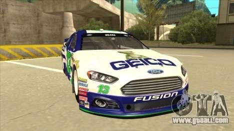 Ford Fusion NASCAR No. 13 GEICO for GTA San Andreas left view