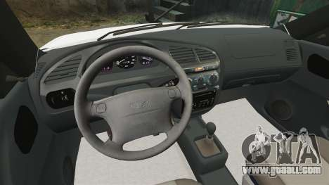 Daewoo Lanos 1997 Cabriolet Concept for GTA 4 inner view