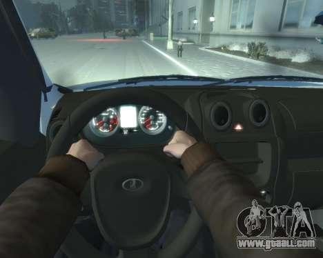 Lada Granta Hatch - VAZ 2191 for GTA 4 back view