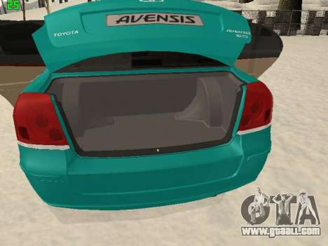 Toyota Avensis 2.0 16v VVT-i D4 Executive for GTA San Andreas inner view