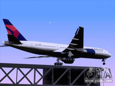 Boeing 777-200ER Delta Air Lines for GTA San Andreas upper view
