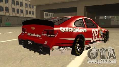 Chevrolet SS NASCAR No. 39 Quicken Loans for GTA San Andreas right view
