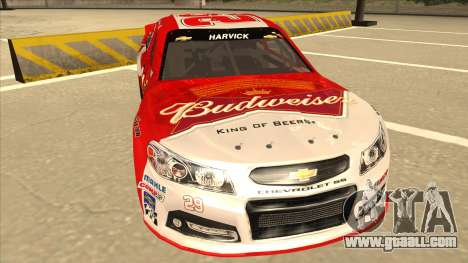 Chevrolet SS NASCAR No. 29 Budweiser for GTA San Andreas left view