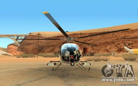 Buzzard Attack Chopper for GTA San Andreas left view