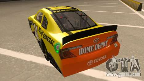 Toyota Camry NASCAR No. 20 Dollar General for GTA San Andreas back view