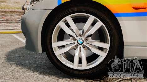 BMW M5 E60 Metropolitan Police 2006 ARV [ELS] for GTA 4 back view