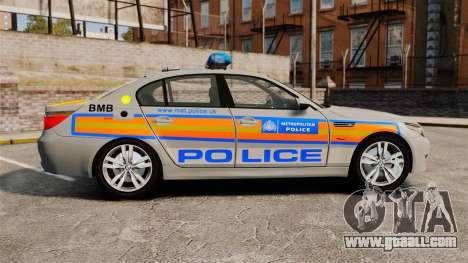BMW M5 E60 Metropolitan Police 2006 ARV [ELS] for GTA 4 left view