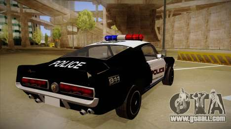 Shelby Mustang GT500 Eleanor Police for GTA San Andreas right view