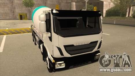 Hi-Land Concrete Mixer Truck Iveco for GTA San Andreas left view