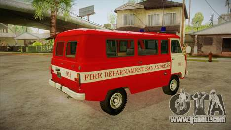 UAZ 452 Firefighter headquarters SA for GTA San Andreas right view