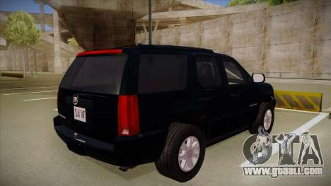 Cadillac Escalade 2011 Unmarked FBI for GTA San Andreas right view