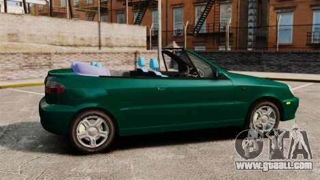 Daewoo Lanos 1997 Cabriolet Concept v2 for GTA 4 left view