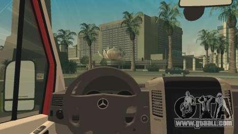 Mercedes-Benz Sprinter for GTA San Andreas back left view